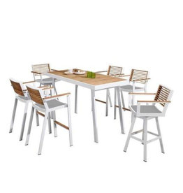Higold Higold 7-piece York Bar set WHITE-TEAK