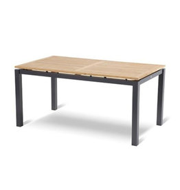 Hartman Hartman Sonata Table 160x90cm dark gray with teak top