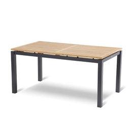 Hartman Hartman Sonata Table 160x90cm donkergrijs met teak blad