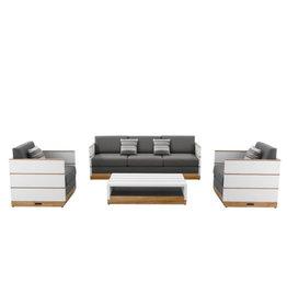 Higold Higold Nutt 4-delig sofa Loungeset Wit -teak