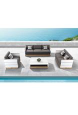 Higold Higold Nutt 4-delig sofa Loungeset Wit -teak-SUNBRELLA kussens