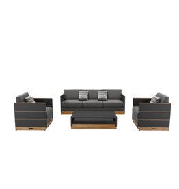 Higold Higold Nutt 4-delig sofa Loungeset Charcoal -teak