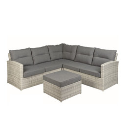 Tierra Outdoor Tierra Outdoor Fredo Lounge SET 4-pc Small Corner Weathered Grey
