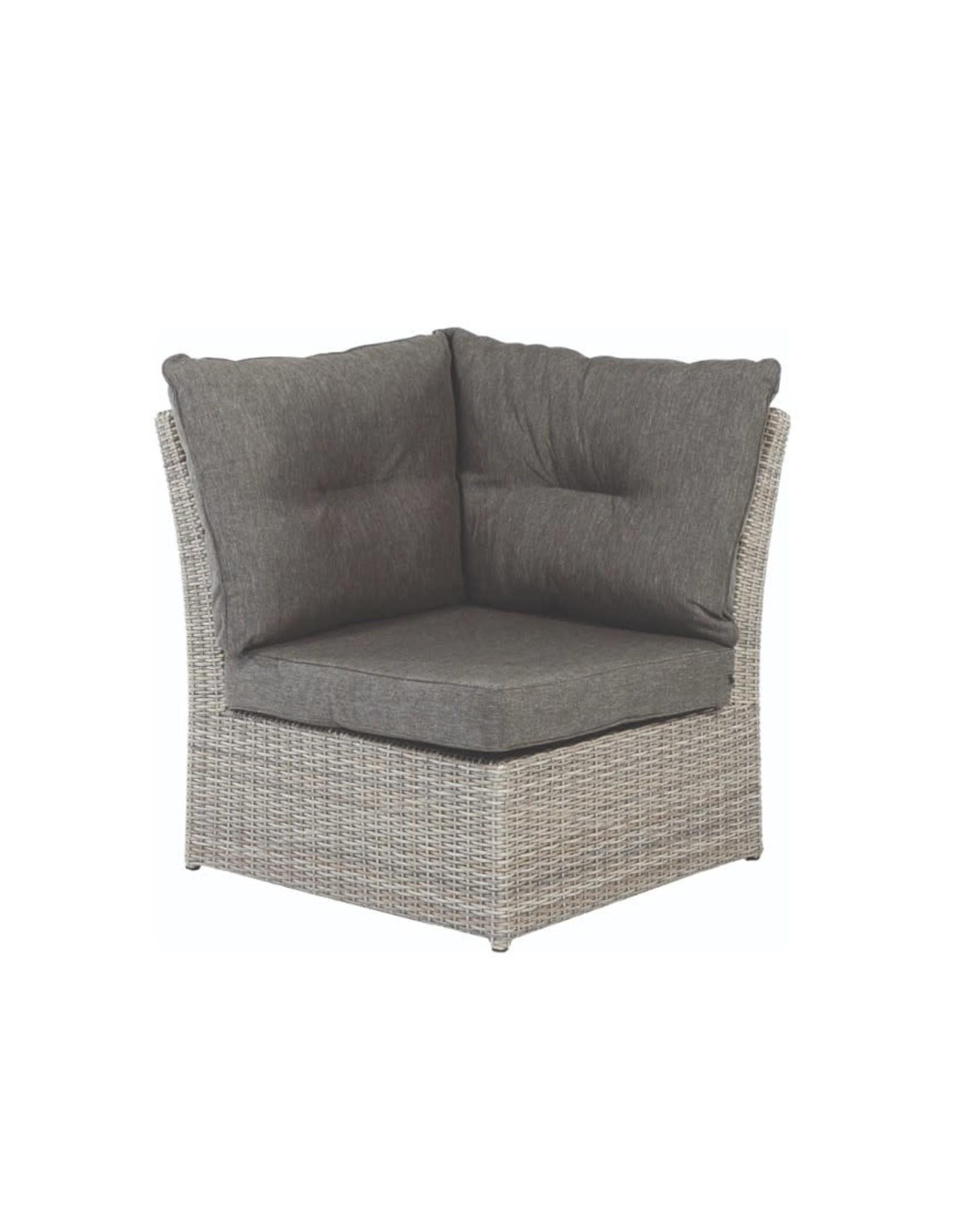 Tierra Outdoor Tierra Outdoor Fredo Lounge SET 4-DLG Small Corner Weathered Grey