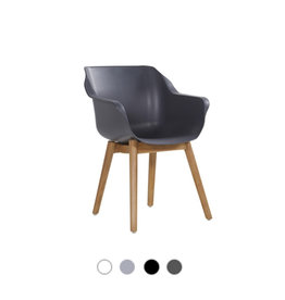 Hartman HARTMAN SOPHIE TEAK ARMCHAIR with white,grey or black seat and teak legs