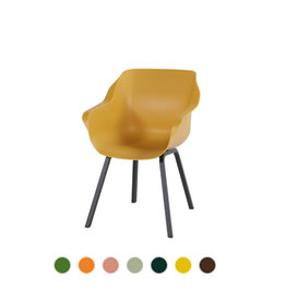 Hartman HARTMAN SOPHIE ELEMENT ARMCHAIR with colored seat and black legs