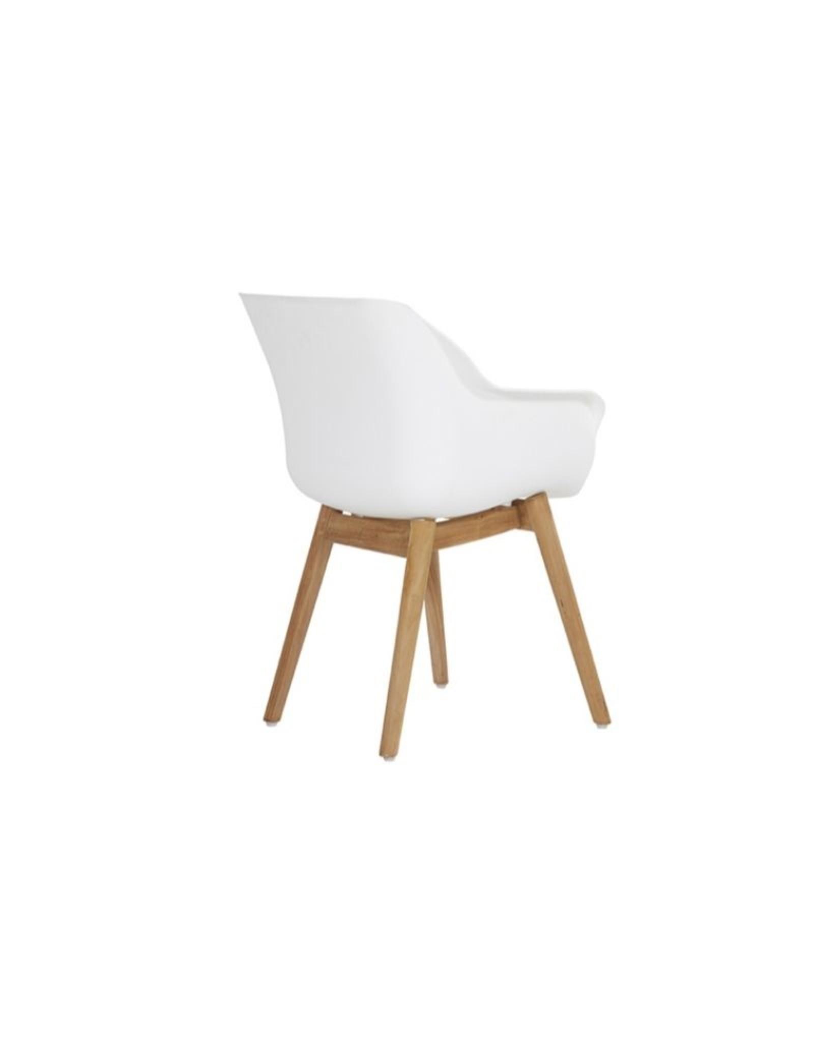 Hartman Hartman set 5-delig Sophie studio teak set met tafel 120cm rond WIT-TEAK