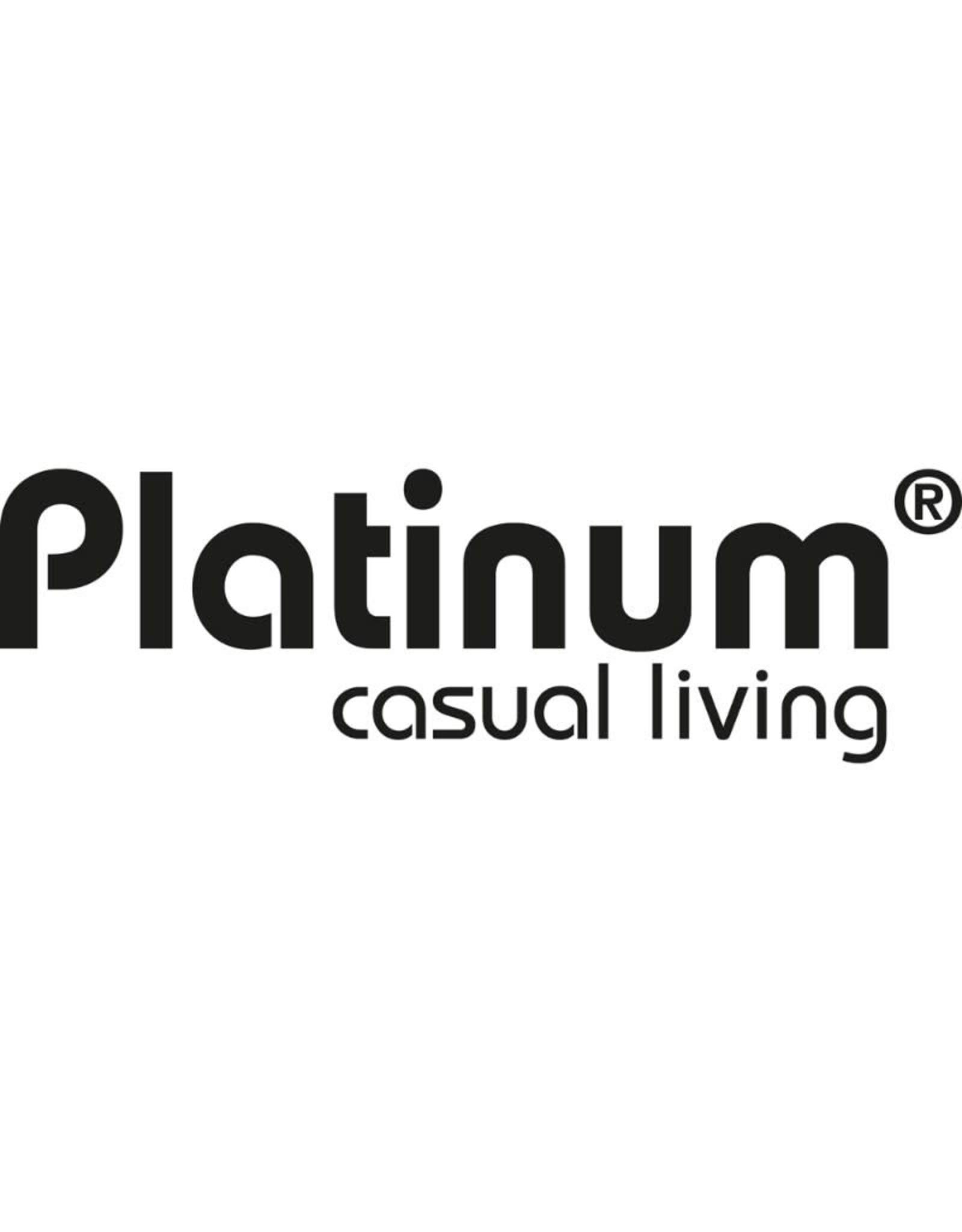 Platinum Platinum Zweefparasol Challenger T2  rond 3,5 Zwart