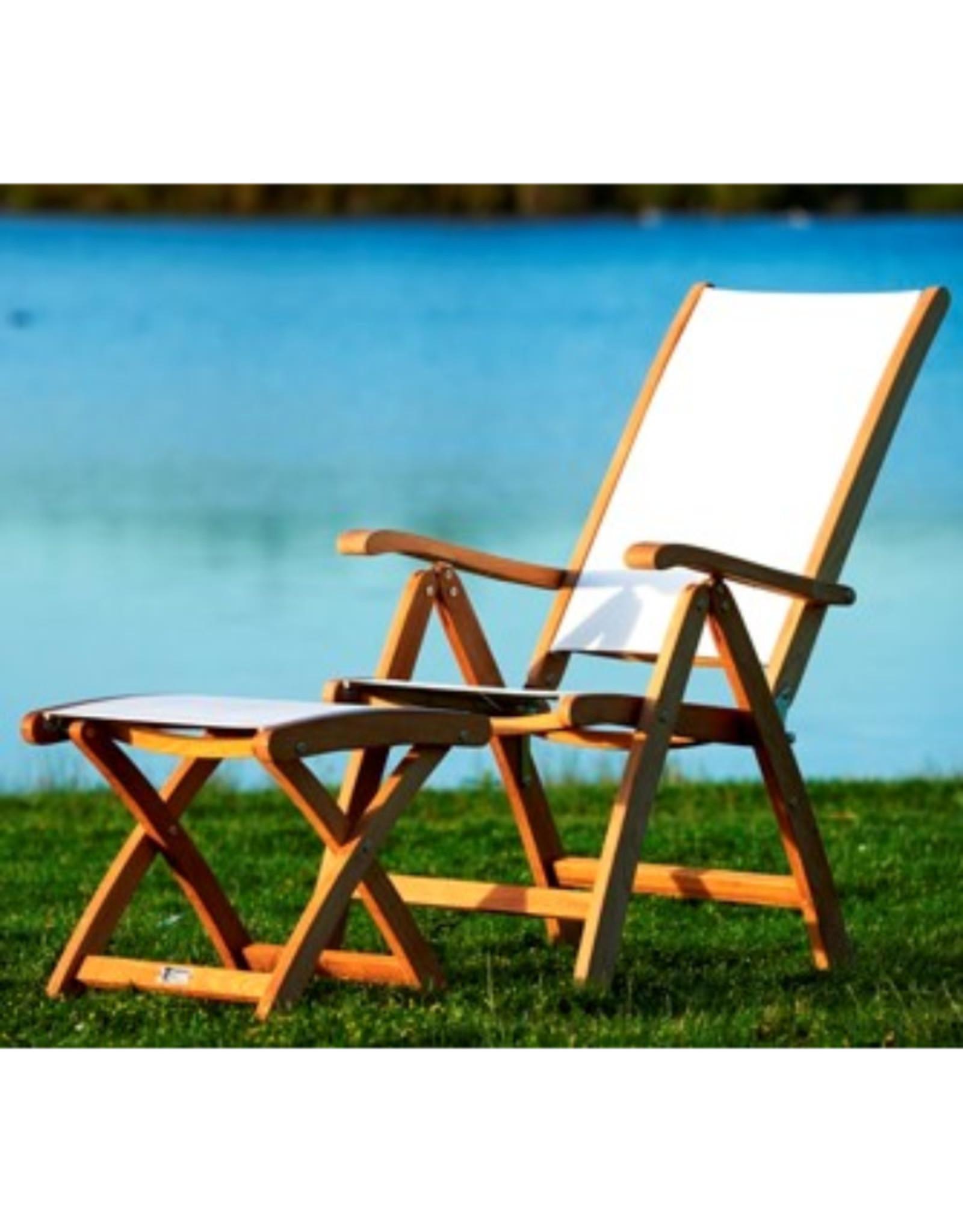 Traditional Teak Traditional Teak  KATE footstool teak met batyline