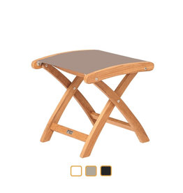 Traditional Teak Traditional Teak  KATE footstool teak with batyline