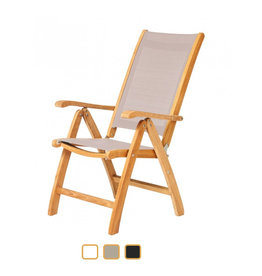 Traditional Teak Traditional Teak  KATE recliner teak with batyline