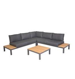 Kettler Kettler SAN MIGUEL Anthracite dark gray - lounge set with teak