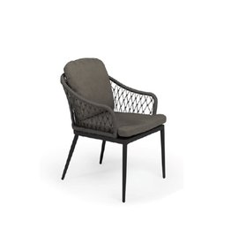 Tierra Outdoor Tierra Outdoor Dessert Dining Chair Charcoal TO-6638