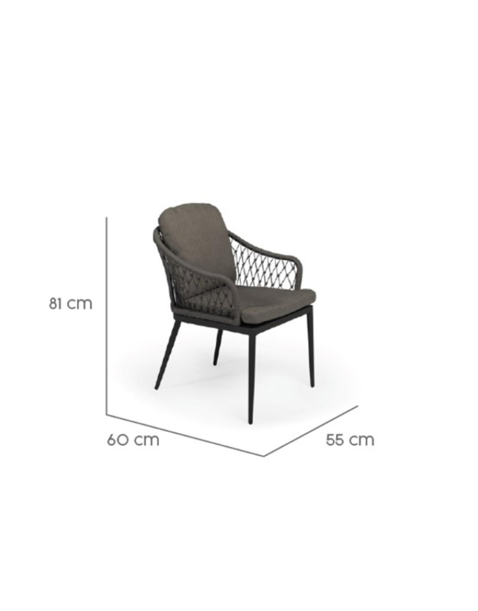 Tierra Outdoor Tierra Outdoor Dessert Dining Chair Charcoal TO-6638