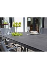 Oceo Stoneo tafel 180*90cm alu/ trespa grey/brun