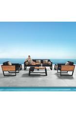 Higold Higold YORK Three-seater sofa set 5dlg zwart/teak