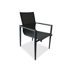Hamilton Bay OUTDOOR Hamilton Bay OUTDOOR Aurora alu. Dining Chair dark gray textilene