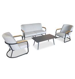 Hartman Hartman Studio 54 lounge sofa SET 4-pc, Light Grey fabric