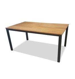 Kettler KETTLER tafel 160x95cm TEAK - brede lijst, CUBIC poot antraciet