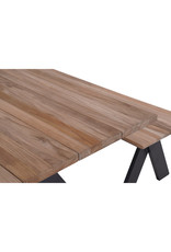 Green Chair Greenchair tafel ICONIC 225x100cm teak - alu GRIJS