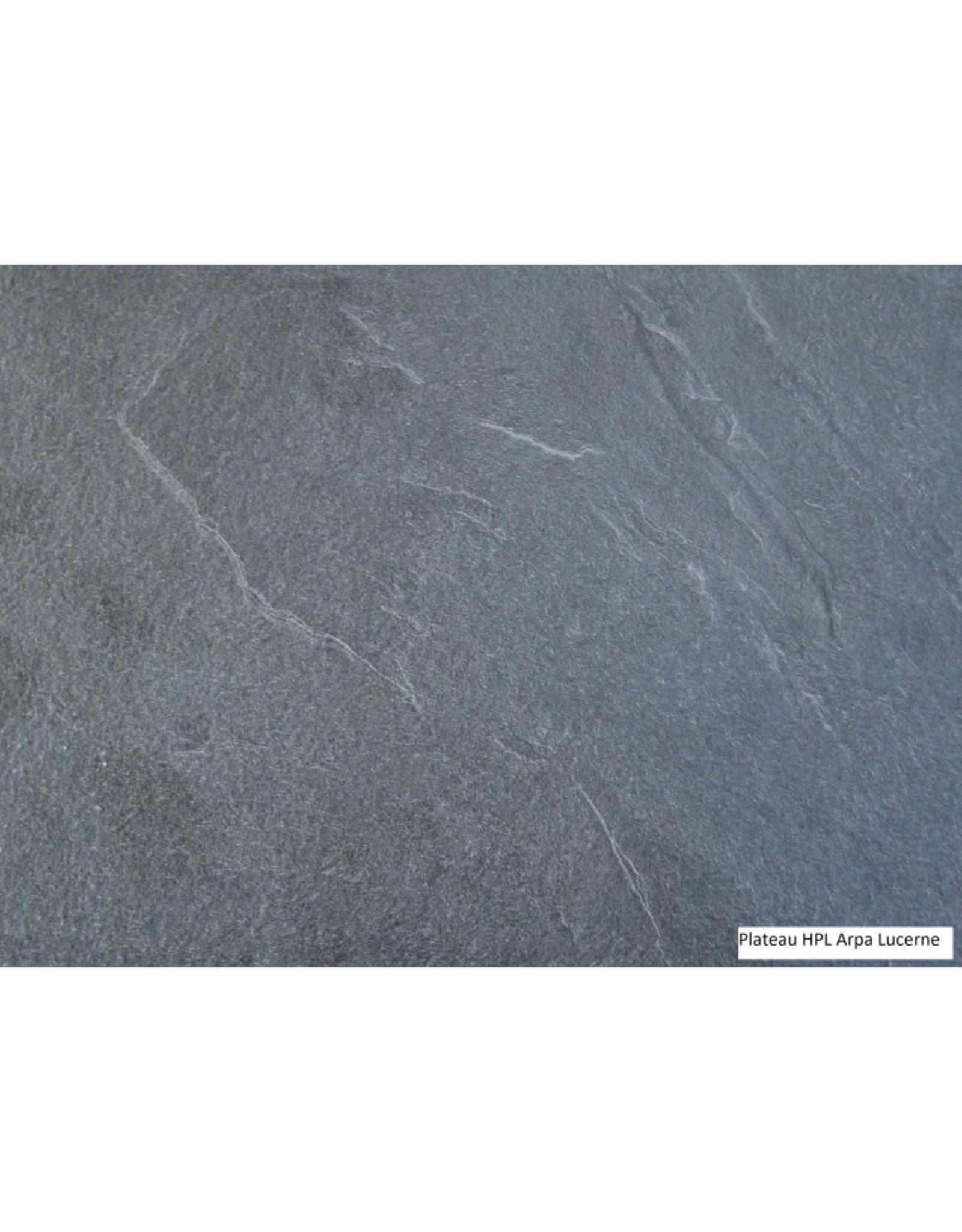 Proloisirs Proloisirs TAHAA uitschuiftafel 180/240x90 antraciet frame met HPL Lucerne grey