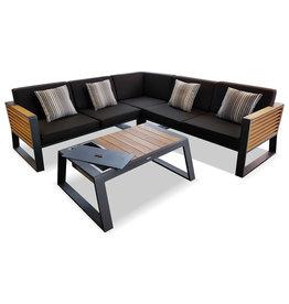 Higold Higold New York Lounge set 4pcs 225x225cm black/teak