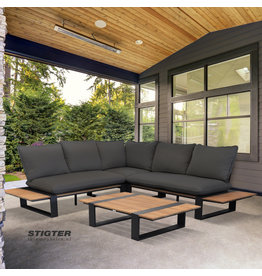 Tierra Outdoor Tierra Outdoor Dawson Lounge Set Charcoal