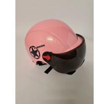Kinderhelm L roze zwart Senyuan