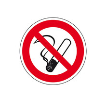 Verbodsbord 'Roken verboden', 200 mm, kunststof