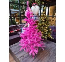 Kunstkerstboom in de kleur roze 150 cm - Kerstboom color pink