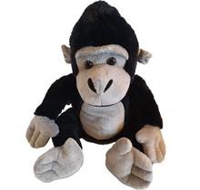 Zache pluche aap/gorilla zwart 34 cm