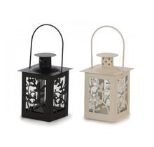Metalen lantaarn - zwart of crème wit- 8 x 8 x 16 cm