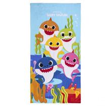 Handdoek - badhanddoek met 5 Baby Sharks- 70 x 140 cm