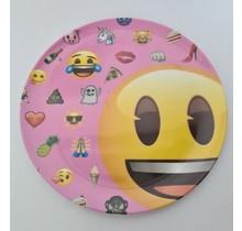 Peuter of kinderontbijt bordje met emoji - rond 20 cm