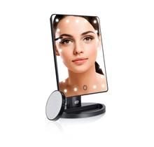 Make-up spiegel MMSP met dimbare LED lampjes en mini-spiegeltje