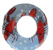 Kreeft zwemband - zwemring - 3 tot 6 jaar - diameter 51 cm