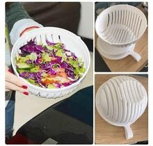 Saladesnijder - salade snijder  - 3 delig - Groen wit