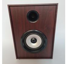 Bluetooth speaker houtkleur retro - 25 cm hoog - In 2 kleuren: donkerbruin en lichtbruin