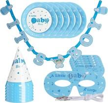 Babyshower versiering - Jongen - decoratie - blauw - 19-delige set
