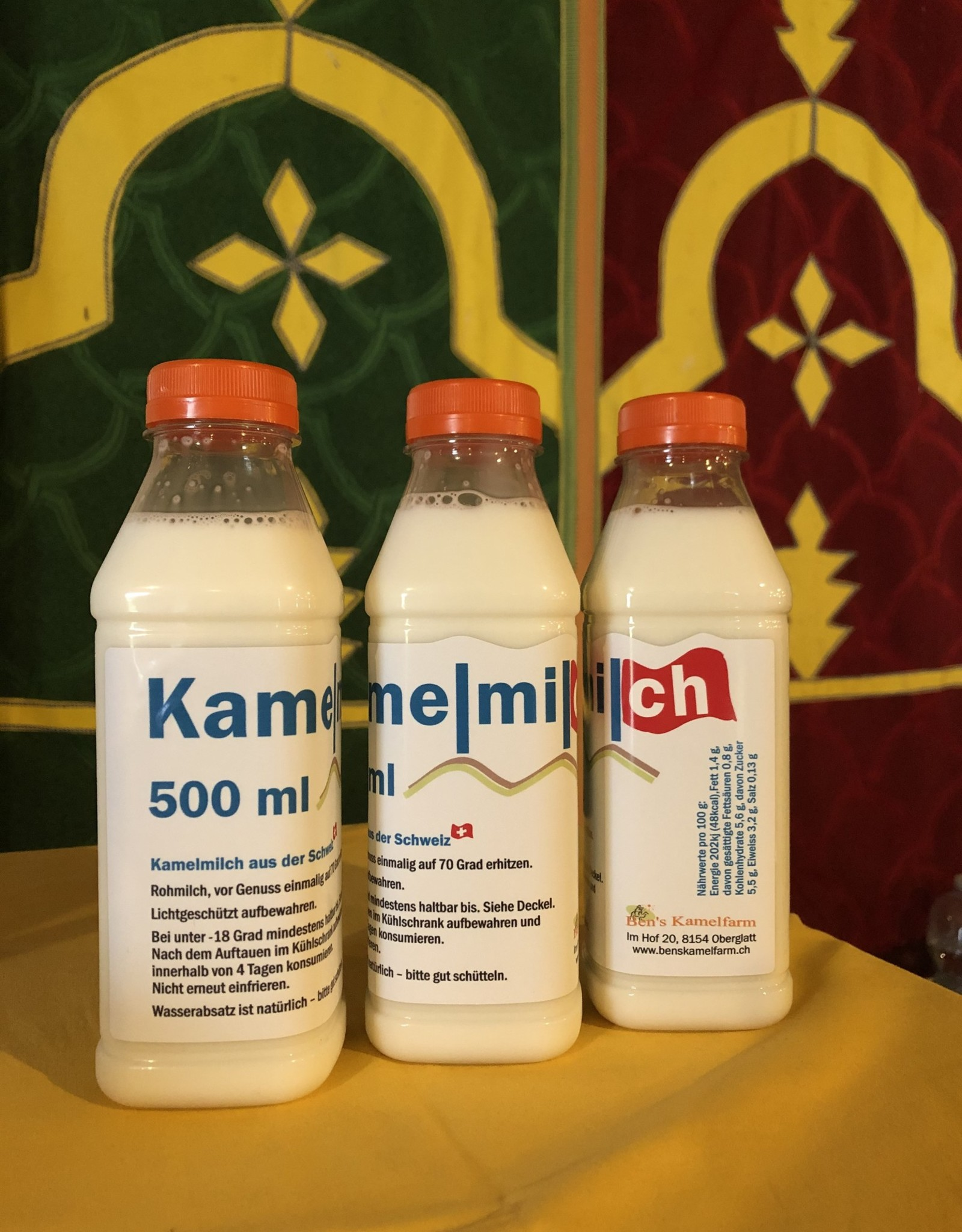 5 Liter Kamelmilch, roh, unbehandelt, tiefgefroren