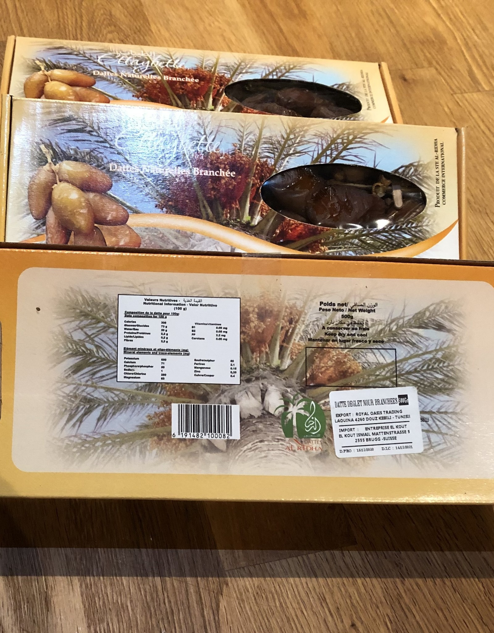 2 kg de dattes Deglet Nour de la Tunisie