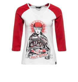 Queen Kerosin Queen Kerosin 50s Holy Queen Offwhite and Red T-shirt
