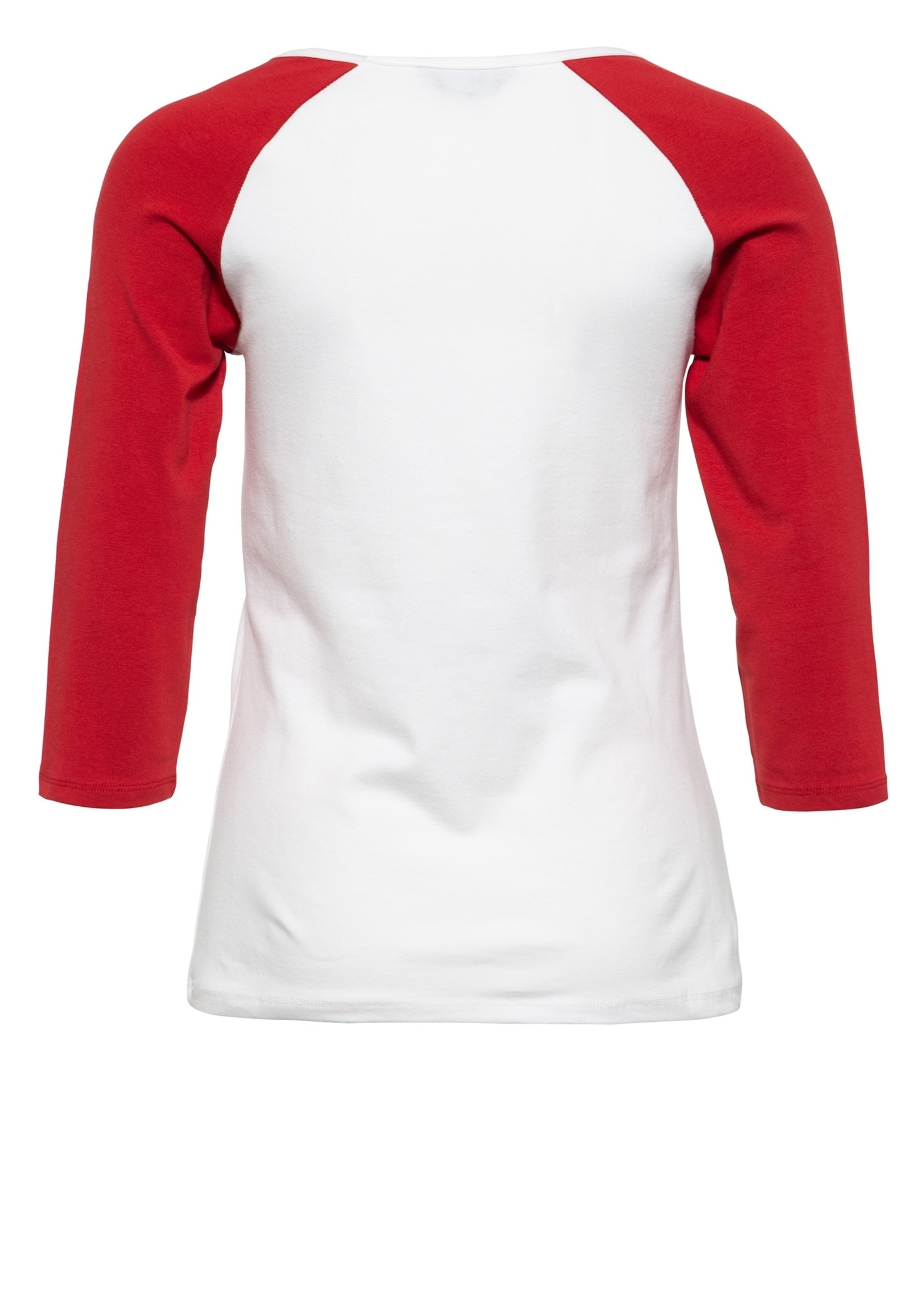 Queen Kerosin Queen Kerosin 50s Holy Queen Offwhite and Red T-shirt