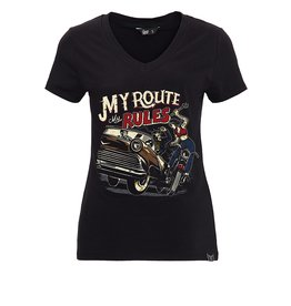 Queen Kerosin Queen Kerosin 50s T-Shirt My Route My Rules