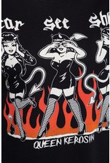 Queen Kerosin Queen Kerosin 50s Hear See Shhh T-shirt in Black
