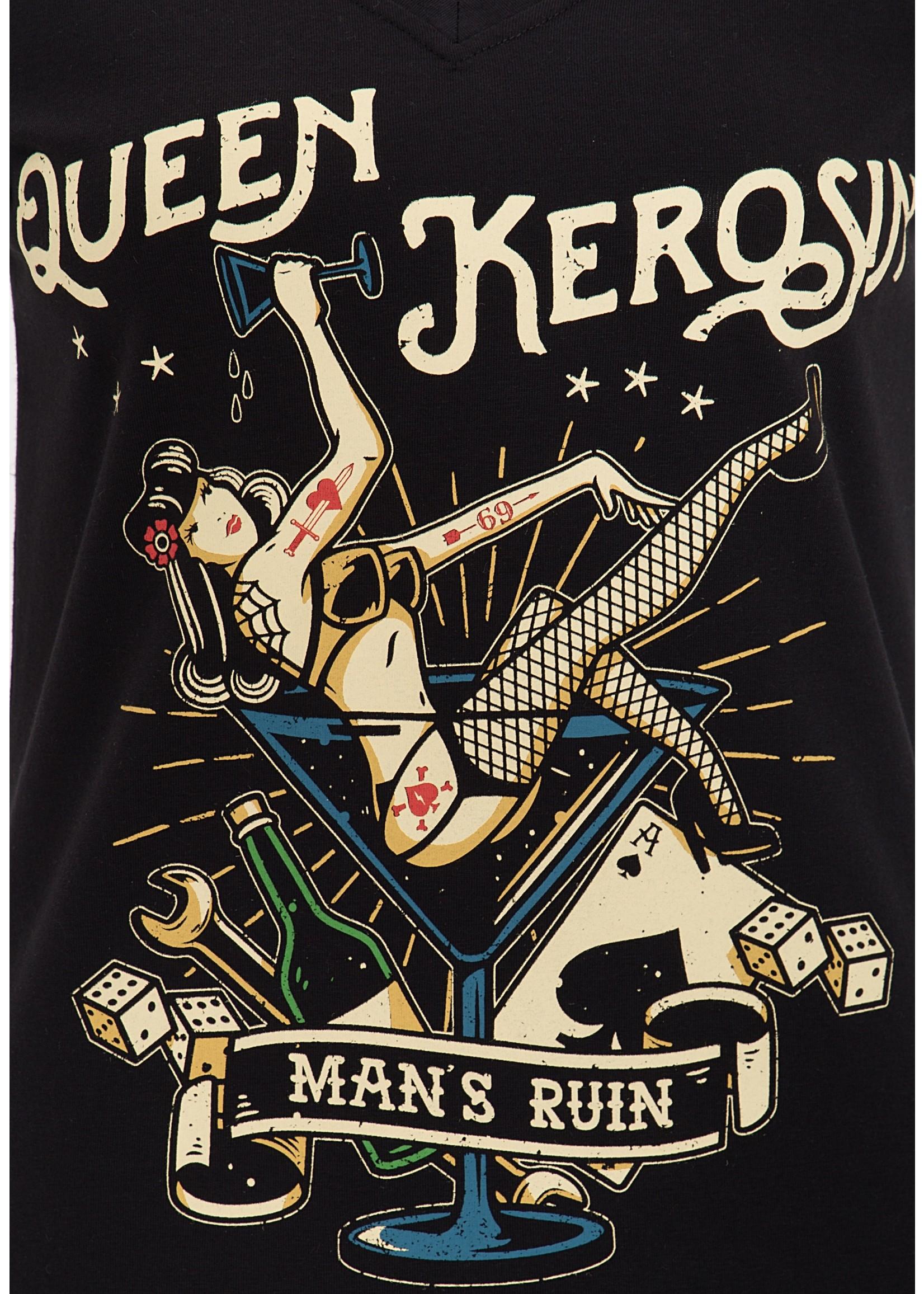 Queen Kerosin Queen Kerosin T-Shirt Mans Ruin in Black