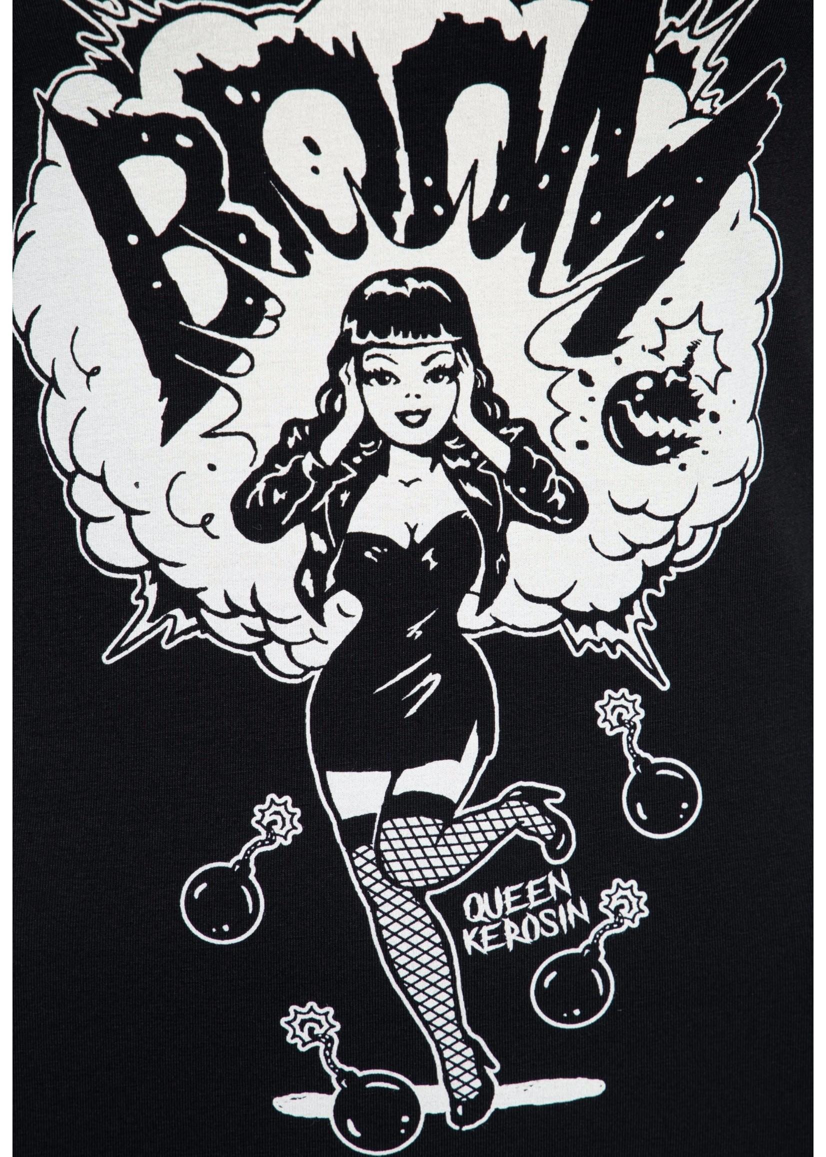 Queen Kerosin Queen Kerosin 50s T-Shirt Boom in Black