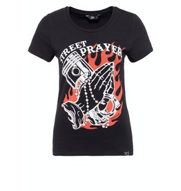 Queen Kerosin Queen Kerosin T-Shirt Street Prayer in Black