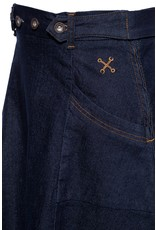 Queen Kerosin Queen Kerosin Workwear Denim Skirt in Dark Blue