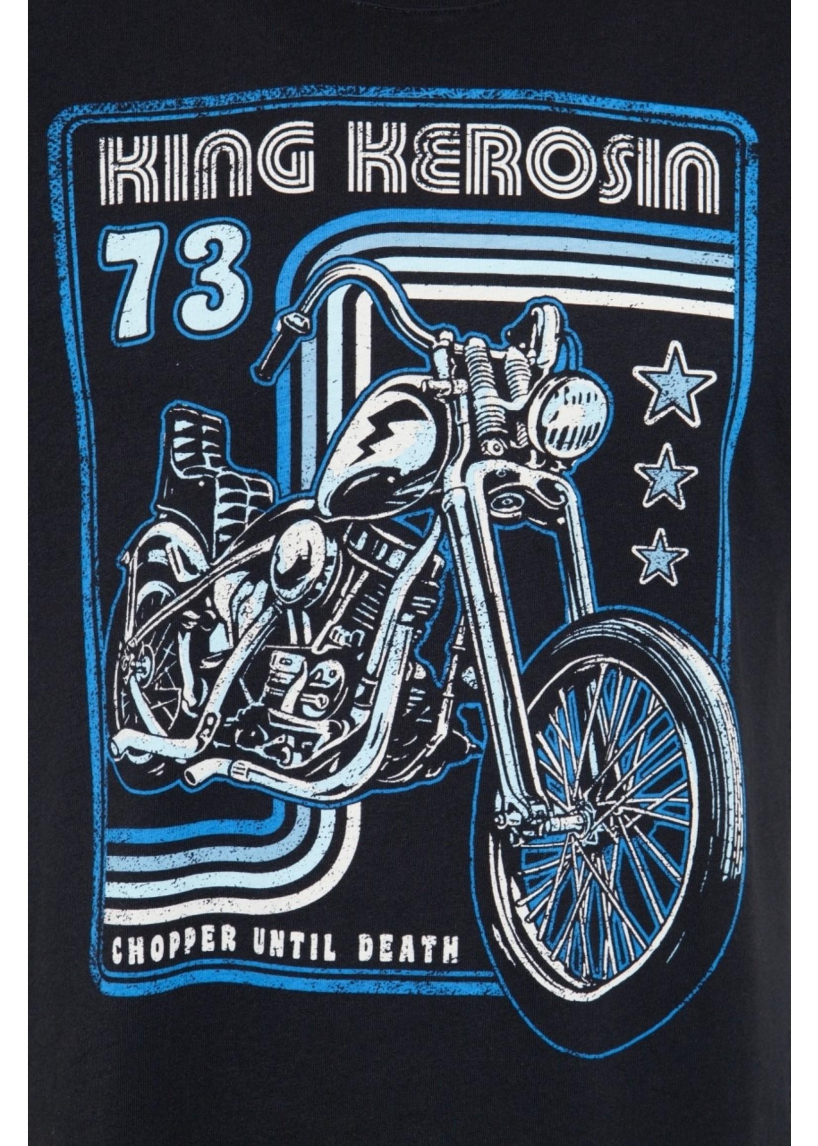 King Kerosin King Kerosin T-Shirt Chopper Until Death in Black